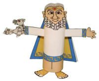 King Minos Toilet Paper Roll Craft - Greek crafts & activities for kids