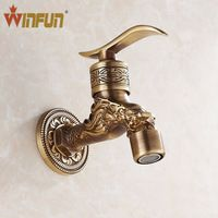 Antique bronze Dragon carved tap Animal shape faucet Garden Bibcock washing machine faucet outdoor faucet for Garden