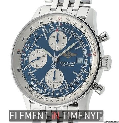 Breitling Navitimer Old Navitimer II Stainless Steel Blue Dial 41mm Ref. A13322 Price On Request