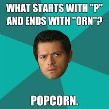 anti joke castiel - Google Search. Oh Cas. One day you'll understand about the pizza man and the babysitter.
