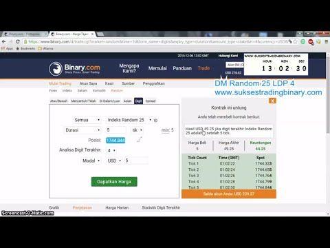 Trik Binary.com Digit Matches Random 25 LDP 4 ~ Gratis Panduan Sukses Trading Binary.com