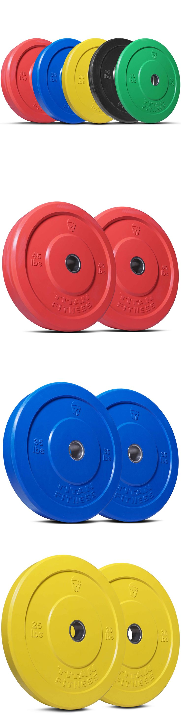 Weight Plates 179817: Titan 260 Lb Set Of Olympic Bumper Plates Benchpress Strength Training Power Wod BUY IT NOW ONLY: $410.0