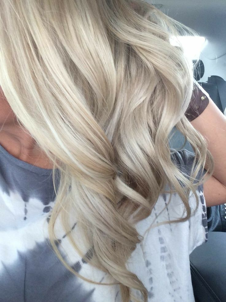 Light blonde with beige and ash highlights