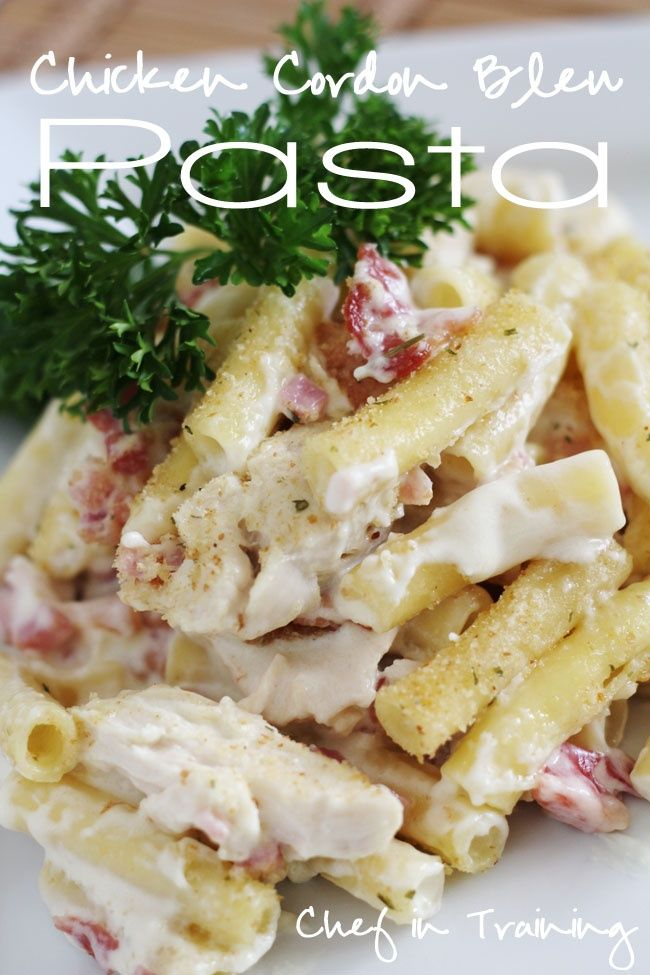 Awesome recipe with healthy ingredients and a great taste, this is rich in proteins and low fat content. Ju must try this recipe: Chicken Cordon Bleu Pasta Current site content just present recipe ideeas and credit source from where they had been found. We don't assume the copyright or any issues regarding to them, for this reason, if you want a certain recipe to be removed from this site, just write us on CONTACT pagehttp://pinterest.com/pin/219832025531707588/
