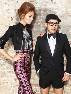 This look is even more adorable when its designer, fan favorite Mondo Guerra, gets in on the shot.