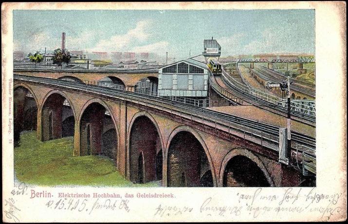 Der historische Bahnhof Gleisdreieck 1905