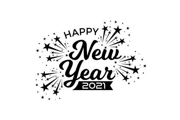 Happy New Year 2021 Banner Design Vector Graphic By Fatrin99art Creative Fabrica In 2020 New Year Clipart Happy New Year Images New Year Wishes