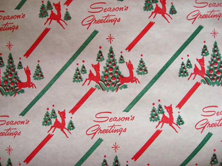 54 best images about vintage christmas wrapping paper on for Best christmas wrapping paper