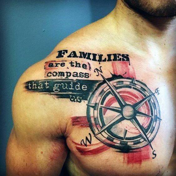 60 rote und schwarze Tattoos für Männer – Manly Design-Ideen