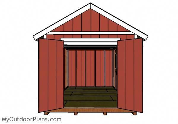 10x20 Shed Plans Front View Buildadeckcheap Decks Patios And