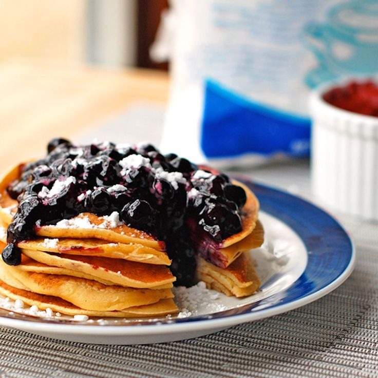 This easy blueberry sauce is made with fresh blueberries, sugar, vanilla, and corn starch. Thick, sweet, and perfect for topping pancakes.