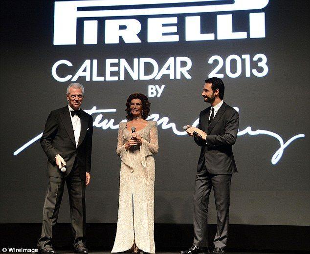 Sophia Loren at the launch of the Pirelli calendar looks wonderful