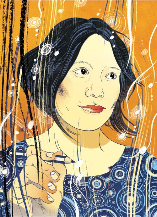 victongai:  Liza Lim Music Review Victo Ngai A portrait for Alex...