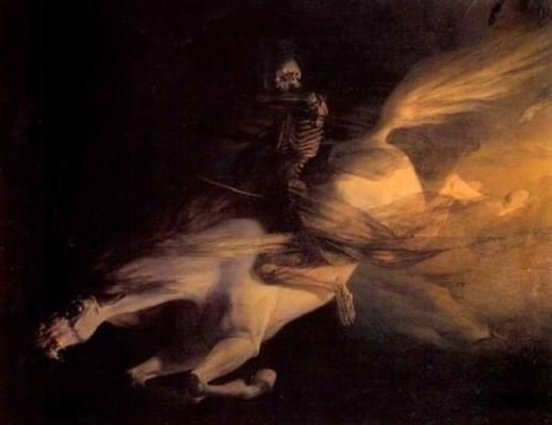 Edouard Ravel de Malval - Death on a Pale Horse (19th century)