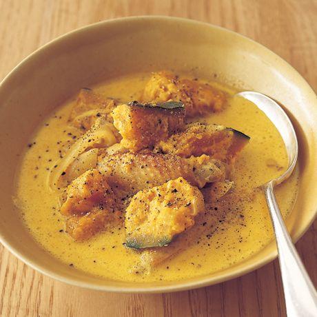 カレー風味のかぼちゃスープ