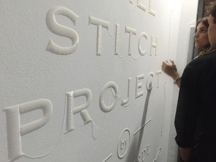 YOY trick the eye with mirror, lamps + 3D printed letters at milan design week