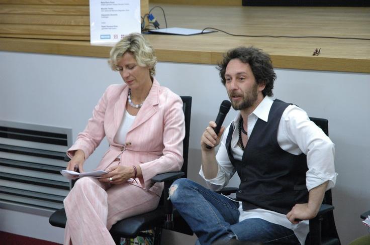 Maria Elena Rossi di Sviluppo Piemonte Turismo e Gianluca Ranno di Gnammo by Cultura Digitale