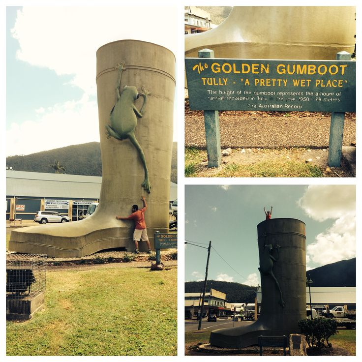 We made it to the golden gumboot in Tully. It's about as exciting as it sounds.