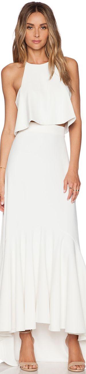 Assali white dress women fashion outfit clothing style apparel @roressclothes closet ideas