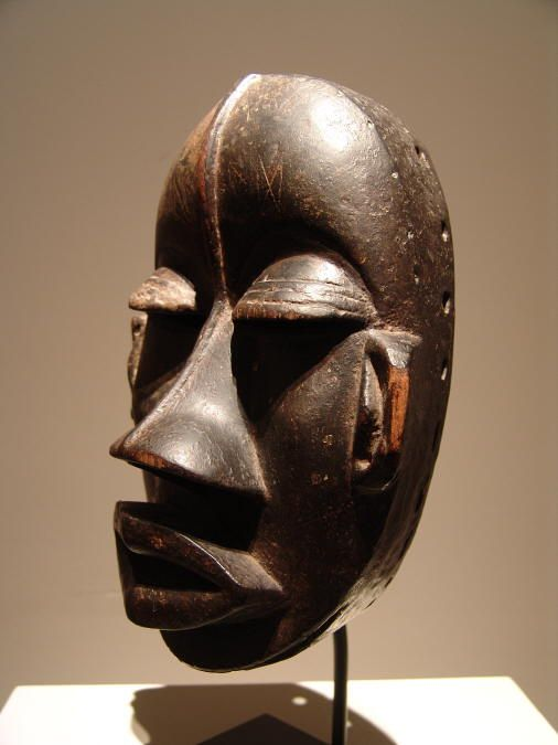 Wobé mask, Ivory-Coast.  ex coll. Vittorio Mangio, Lanfranchii It.  Early 20th century.