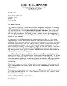 executive cover letter resume cover letters - Cover Letter Of A Resume