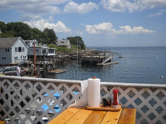 Shaw S Fish Lobster Wharf New Harbor Maine This Is Absolutely The Best Place To Get Fresh Then Eat It On Deck Overlooking