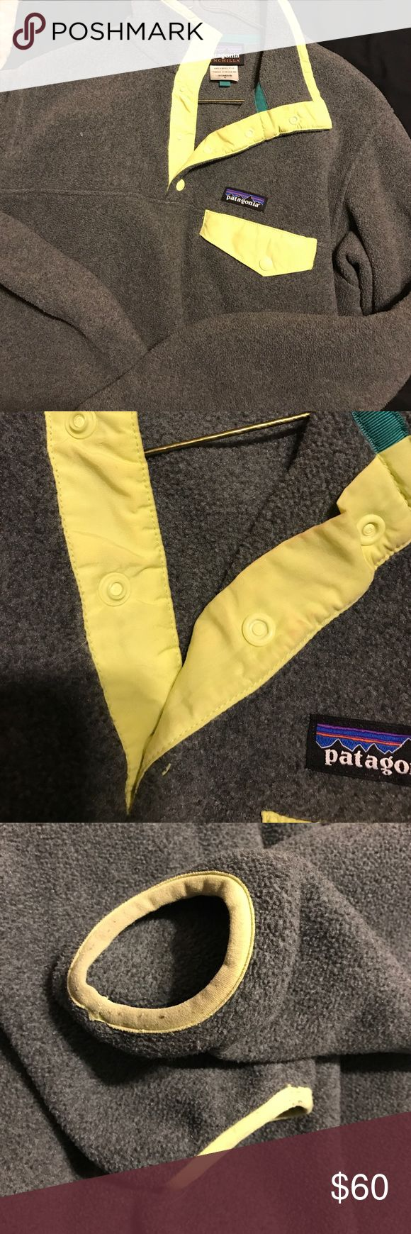 Patagonia fleece Good condition has a few signs of wear (shown in pictures) but otherwise in great condition! Patagonia Tops Sweatshirts & Hoodies