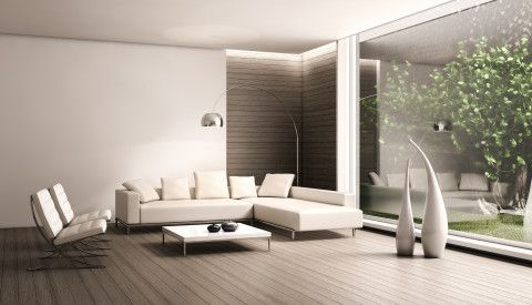 the living area has no set front and can be filled however the occupants see fit