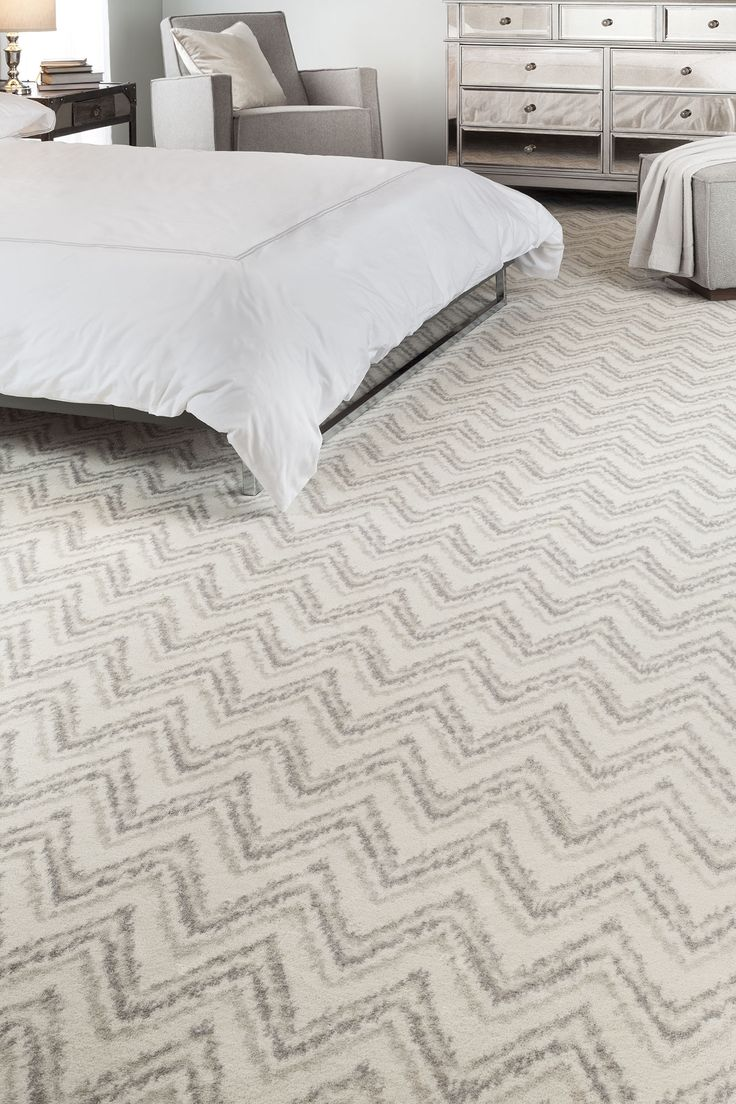 Chevron Patterned Carpet | Gray U0026 Cream | Bedroom Inspiration | Runner U0026  Area Rug Ideas