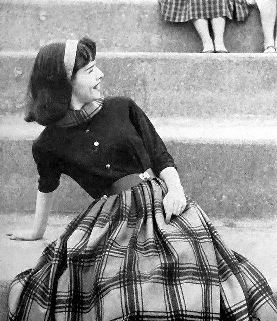 Girl in Blouse and Plaid Skirt, 1958: Plaid Skirts, 1950S Style, Vintage 1950S, Vintage Fashion, 1950S Schoolgirl, 1950S Vintage, 1950 S, 1950S Blouses, 1950S Fashion