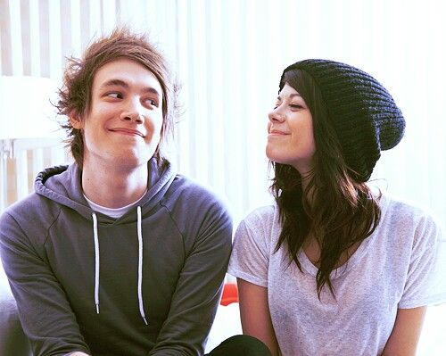 Jordan Eckes and Tay Jardine from We Are The In Crowd. Two of my favorite human beings.