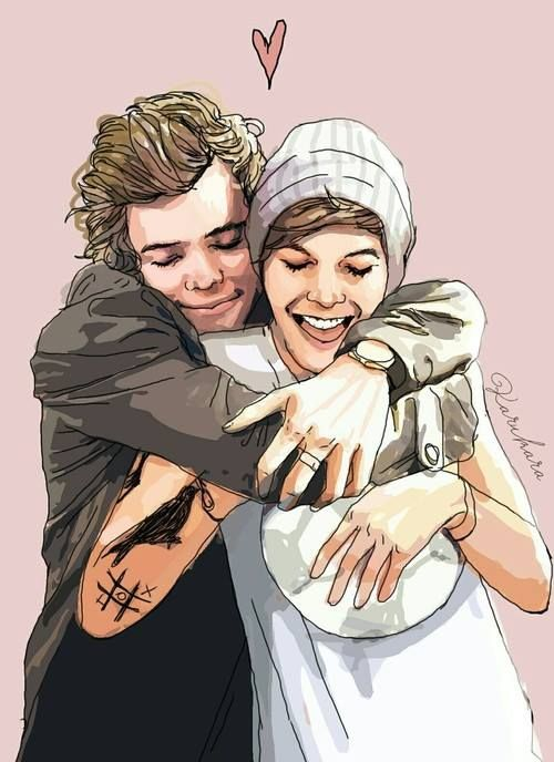 1D One Direction - Harry Styles and Louis Tomlinson - HaLo ...