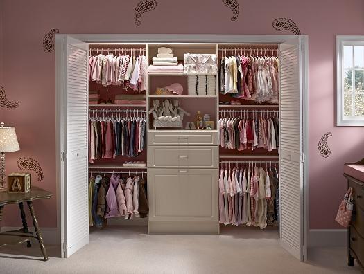 Baby girl's closet...notice the triple hang? Genius! #Closet Oasis