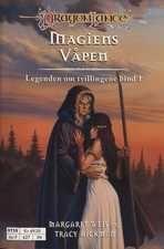 """""""Legenden om tvillingene. Bd. 1 - magiens våpen"""" av Margaret Weis - Bought used at a second hand bookshop"""