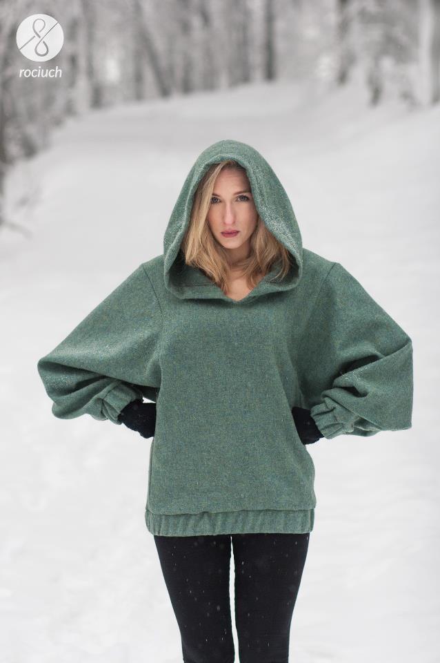 warm wool hoodie