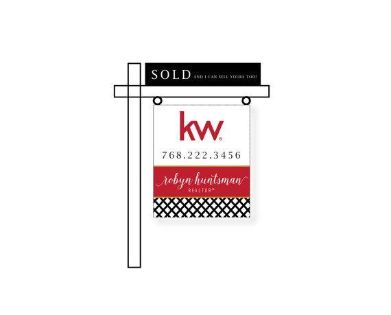 25 best real estate yard signs images on pinterest garten house realtor for sale house yard sign modern keller williams color choice digital file art reheart Image collections