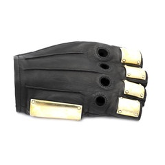 Majesty Black Armor Gloves.  #fashion #accessories #leather #gloves #majestyblack  #leathergloves #majestygloves #blackleather #armorgloves