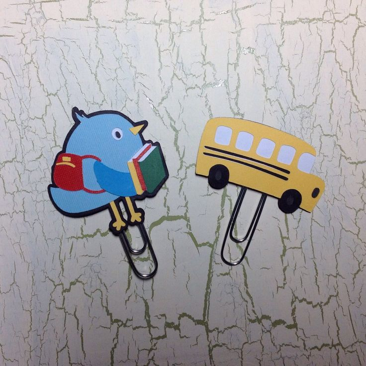 A personal favorite from my Etsy shop https://www.etsy.com/listing/386264528/back-to-school-bird-bus-planner-clip