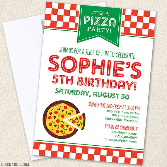 8 best Pizza party images on Pinterest Birthday invitations, Pizza - fresh birthday invitation from a kid