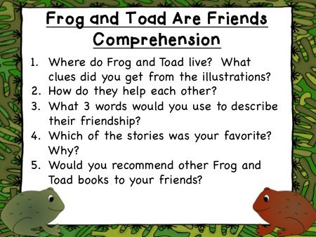 Frog and Toad Are Friends - No Copies Needed!  Teach reading comprehension, vocabulary, language, friendly letters and MORE!  No Prep - Just TEACH!  Grades 1-3