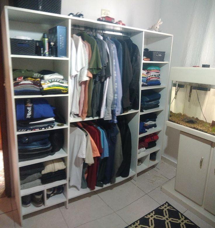 Guarda-roupas sem portas MDF 15mm, 183 x 183 x 42 cm.  Wardrobe no port MDF 15mm, 183 x 183 x 42 cm.
