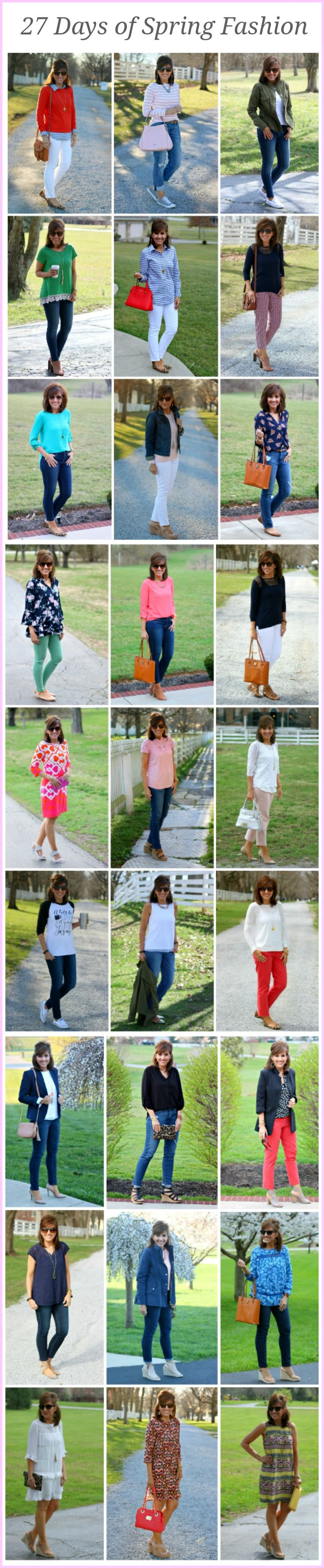 27 Days of Spring Fashion for women over 40