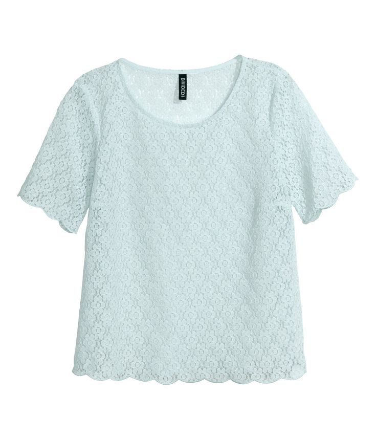 Lace top. #HMPastels #HMDIVIDED