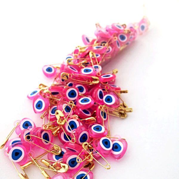 Evil eye beaded safety pins – 100 pcs  $6.00