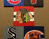 Sports Canvases #Blackhawks #bears #cubs #sox #bulls #Chicago #sports