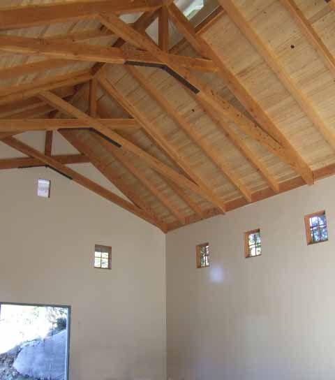 71 best images about structure trusses on pinterest for Vaulted ceiling with exposed trusses