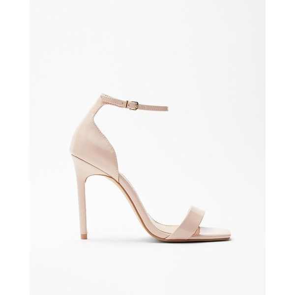 Express Square Toe Heeled Sandals (1,330 MXN) ❤ liked on Polyvore featuring shoes, sandals, neutral, high heeled footwear, sexy open toe shoes, high heel sandals, sexy high heel sandals and express sandals