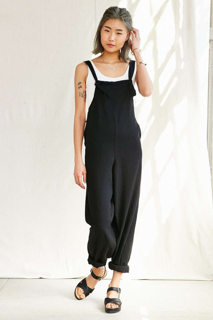 Urban Renewal Remade Linen Tie Front Overall