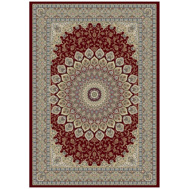 Dynamic Rugs Ancient Garden 57090-1484 Red Rug
