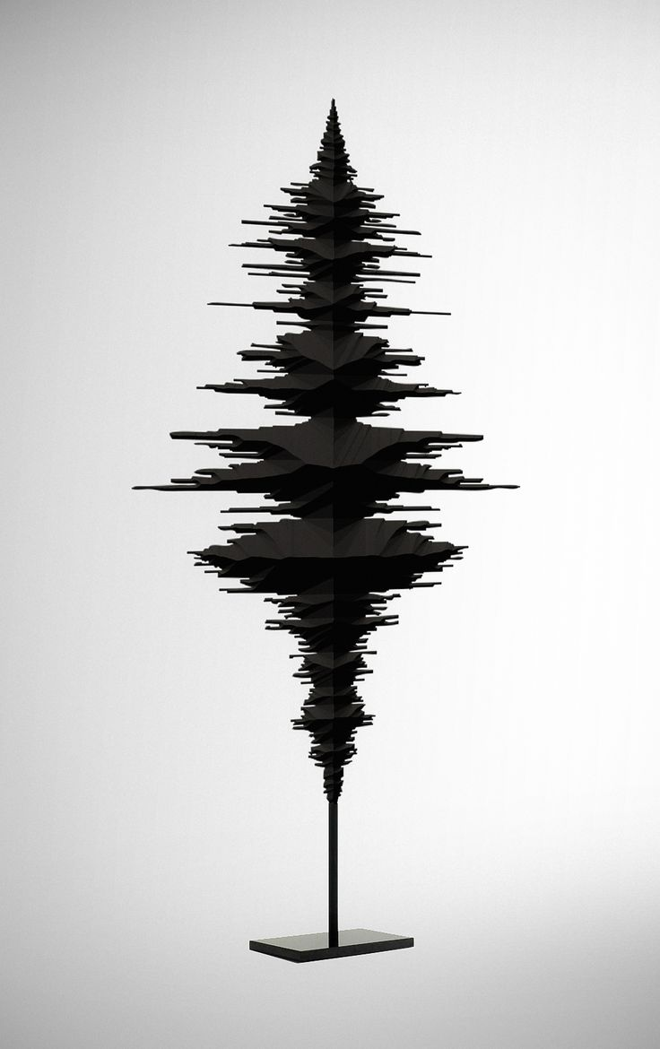 This image shows an interesting shape built around the sharp wave forms found on a sound editing program. I like how there is some symmetry.